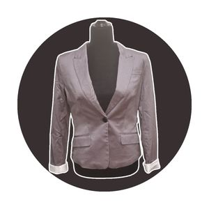 H&M Gray Single-breasted Jacket Size 8
